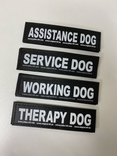 Working & Therapy Dog Labels for Harnesses, Collars and Side Bags (PAIR)