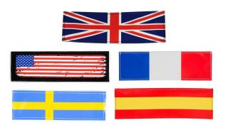Flag Labels for Harnesses, Collars and Side Bags (PAIR)