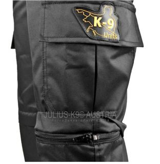 K9 zip-off trousers Black