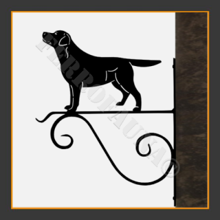 Labrador Retriver Hanging Basket Bracket