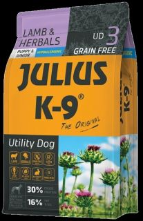 JULIUS-K9® Utility Dog Food for Puppy/Junior Dogs - Lamb & Herb