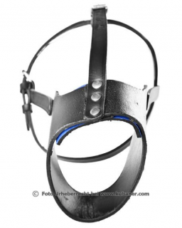 Leather muzzle - Half opened - 37 cm
