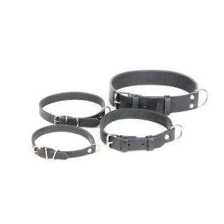 leather dog collars in four sizes