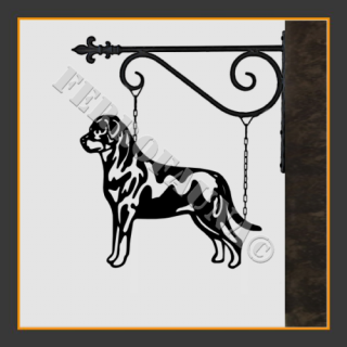 Rottweiler Hanging House Sign
