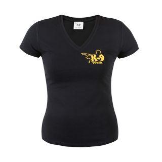 K9® Black V- Neck T-Shirt for Women