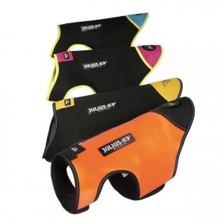 collection of dog vests