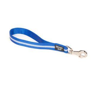 IDC® Tubular Webbing Leash - Blue - 0.35m - With Handle - 25mm