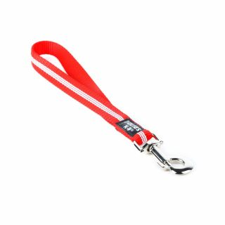 IDC® Tubular Webbing Leash - Red - 0.35m - With Handle - 19mm