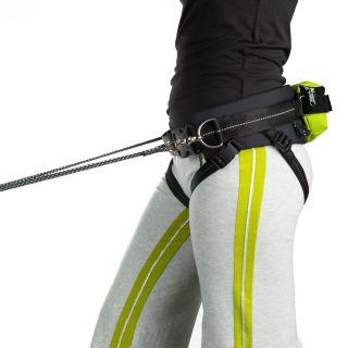 jogging belt worn by jogger