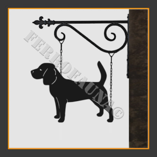 Beagle Hanging House Sign