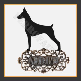 Doberman Welcome Sign