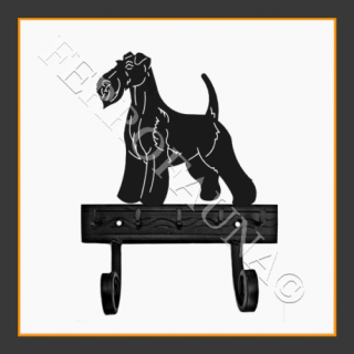 Fox Terrier Wire Key and Lead Holder