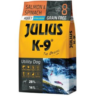 JULIUS-K9® Utility Dog Food for Adult Dogs - Salmon & Spinach