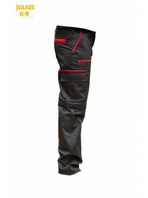 K9® Pants with zip-off legs, black, red