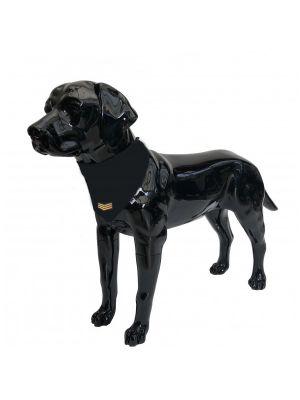 Black Dog Bandana with Sergeant Badge Large