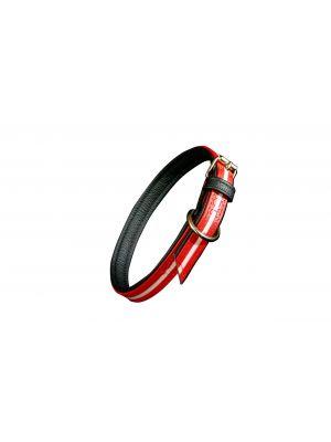 IDC Lumino Fluorescent Dog Collar - Red - Medium (50cm)