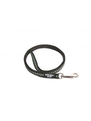 IDC Synthetic Tubular Webbing Narrow Dog Lead - 1 m - Black