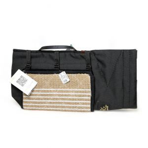Polyester cover with handle and gunny bite pad for young sleeve