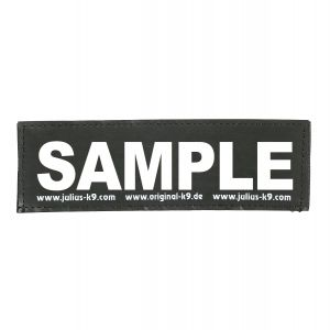 Personalised White Text Attachable Label - Large