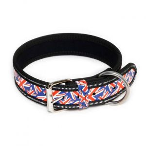 X Large Union Jack Dog Collar (53 - 63 cm)