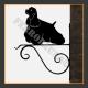 American Cocker Spaniel Hanging Basket Bracket