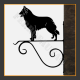 Belgian Shepherd Hanging Basket Bracket