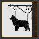 Border Collie Hanging House Sign