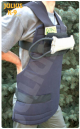 breast belt with sponge protector and velcro-tug