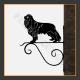 Cavalier King Charles Dog Hanging Basket Bracket