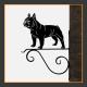 French Bulldog Hanging Basket Bracket