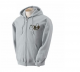 K9 Units Hoodie With Full Zip, Size: M, Color: Gray