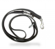 Double Adjustable Leather Lead - Steel Carabiner - 18 mm x 2.2 m