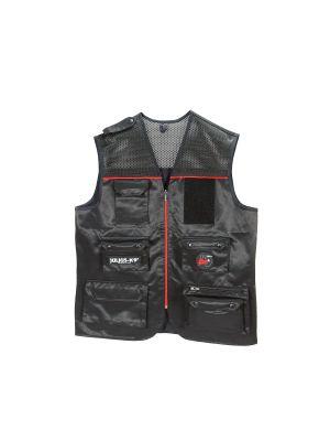 Multi-Pocket Red Waterproof Vest Jacket