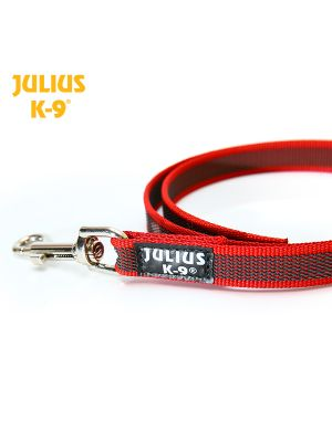 K9 Super Grip Dog Leash - Red - Width: 20 mm - No Handle