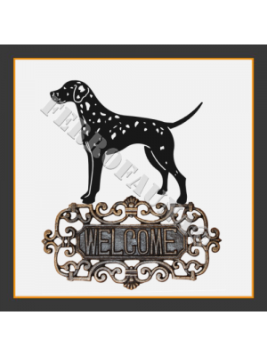 Dalmatian Welcome Sign