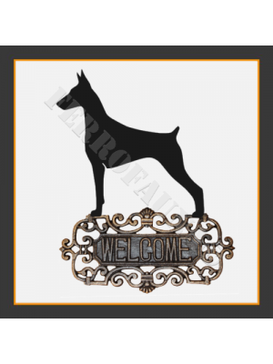 Doberman Welcome Sign