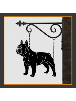 French Bulldog Hanging House Sign