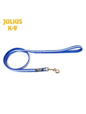 IDC® Tubular webbing Leash BLUE with handle - Ø 14 mm
