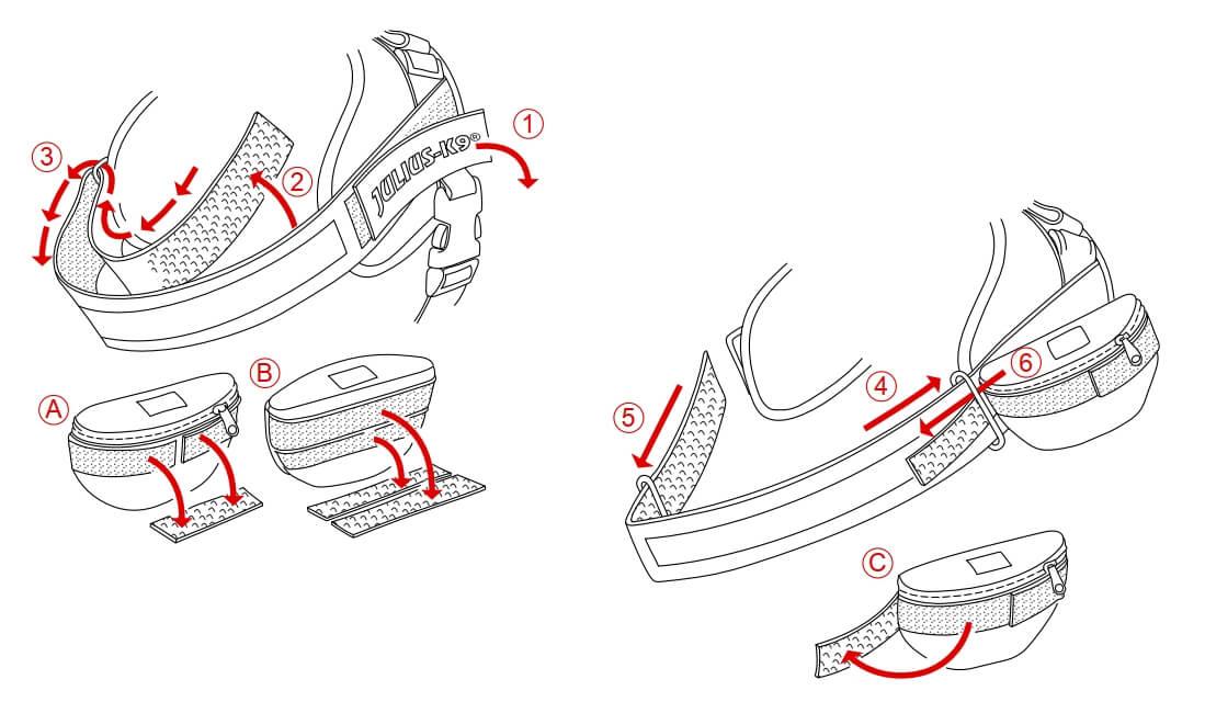 side bag attachment step 1